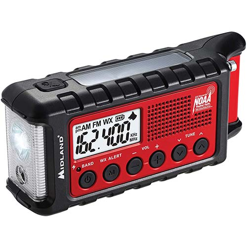 3. Midland - ER310, Emergency Crank Weather AM/FM Radio