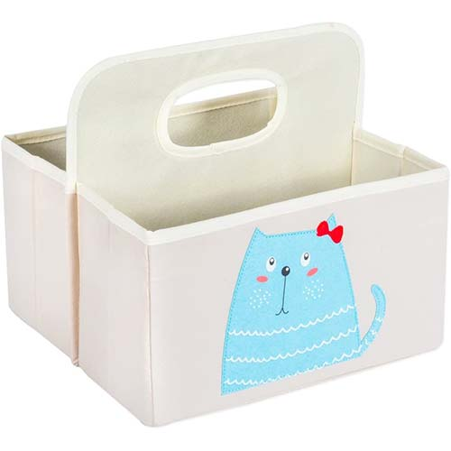 8. DII CAMZ37546 Nursery Storage Caddy for Diapers & Changing Supplies