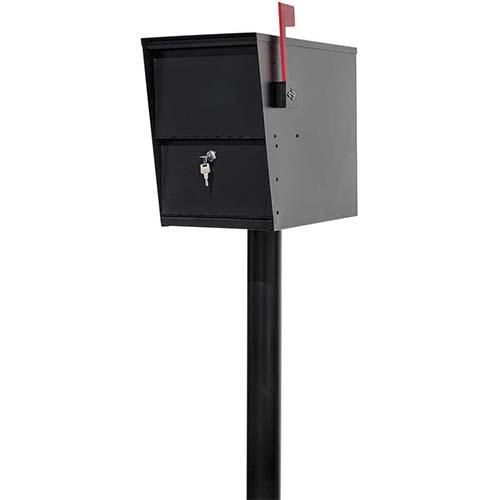 9. LSLM-2000-PST Lettersentry Rust Free Galvanized Steel Locking Mailbox