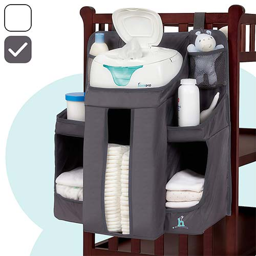 2. hiccapop Nursery Organizer and Baby Diaper Caddy