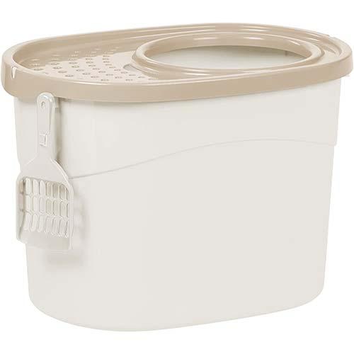 4. IRIS Top Entry Cat Litter Box