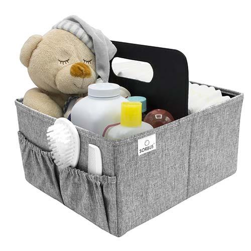 6. Sorbus Baby Diaper Caddy Organizer
