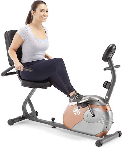 8. Marcy Recumbent Exercise Bike with Resistance ME-709