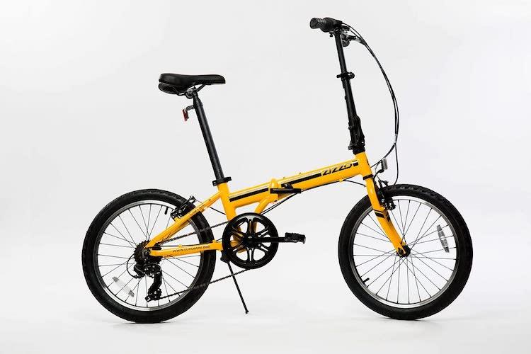 4.EuroMiniZiZZO Campo 28lb Lightweight Aluminum Frame Shimano 7-Speed Folding Bike