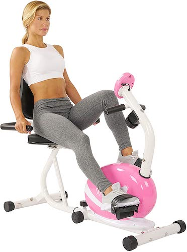 9. Sunny Health & Fitness Magnetic Recumbent Bike Exercise Bike
