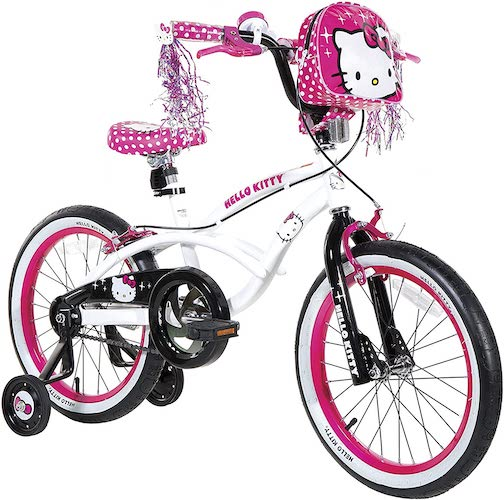 6. Dynacraft Hello Kitty Girls BMX Street Bike 16
