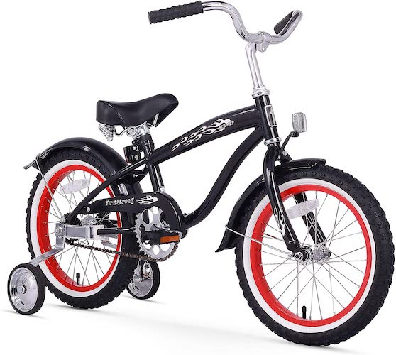 2. Firmstrong Bruiser Boy's Single Speed Bicycle w/ Training Wheels