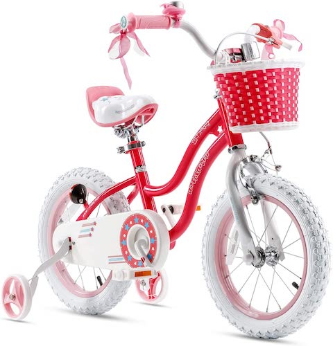 5. RoyalBaby Girls Kids Bike Stargirl 12 14 16 18 Inch Bicycle for 2-9 Years Old Child's Cycle