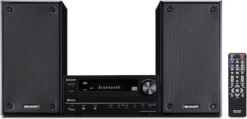 9. Sharp XLHF102B HI Fi Component MicroSystem with Bluetooth, USB Port for MP3 Playback