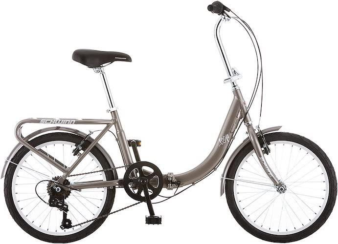 2. Schwinn Loop Adult Folding Bike, 20-inch Wheels