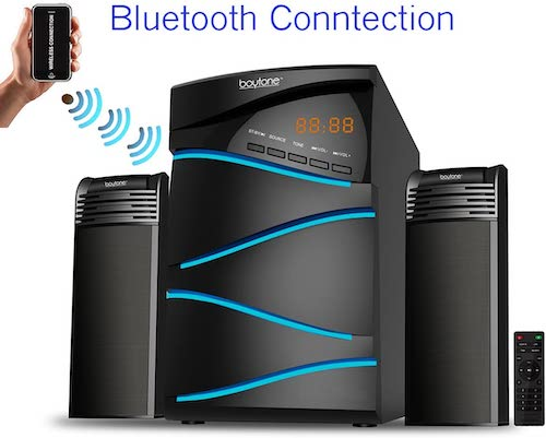 6. Boytone BT-428F, 2.1 Bluetooth Powerful Home Theater Speaker System