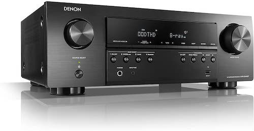 1. Denon AVR-S540BT Receiver, 5.2 channel, 4K Ultra HD Audio and Video, Home Theater System