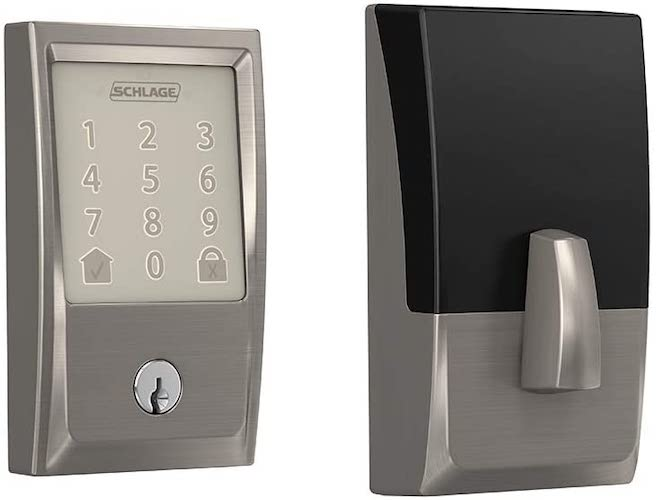 3. Schlage Encode Smart WiFi Deadbolt with Century Trim in Satin Nickel (BE489WB CEN 619)