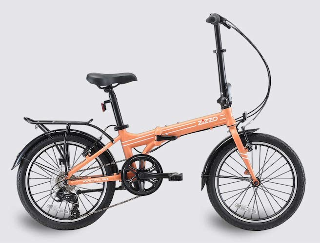 5. EuroMini ZiZZO Heavy Duty-300 lb. Load Limit - Forte 29 lbs Folding Bike