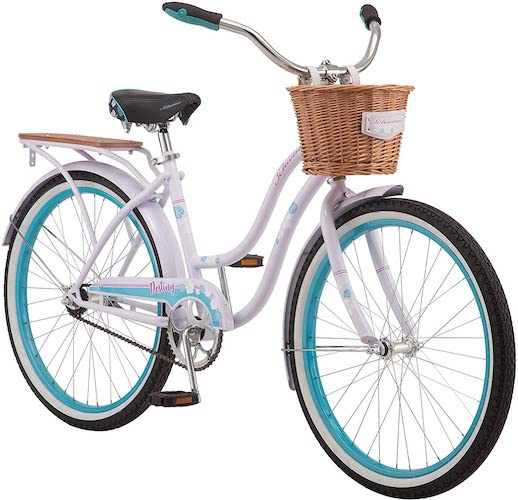 8. Schwinn Destiny Womens Beach Cruiser Bike, Single Speed, 24-inch Wheels