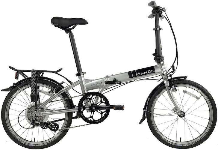4. Dahon Mariner Folding Bike 20-inch Wheels (Brushed Silver)