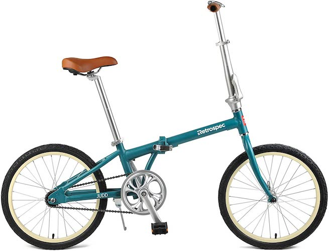 9. Retrospec Judd Single-Speed Folding Bike with Coaster Brake