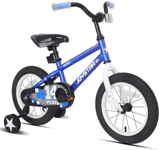 1. JOYSTAR Pluto Kids Bike with Training Wheels