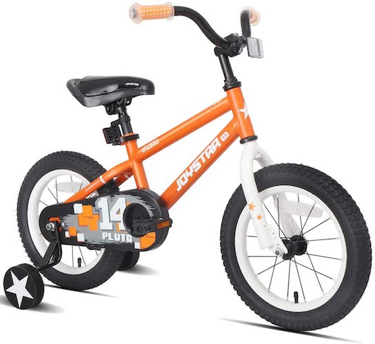 2. JOYSTAR Pluto Kids Bike with Training Wheels for 12 14 16 18 inch Bike