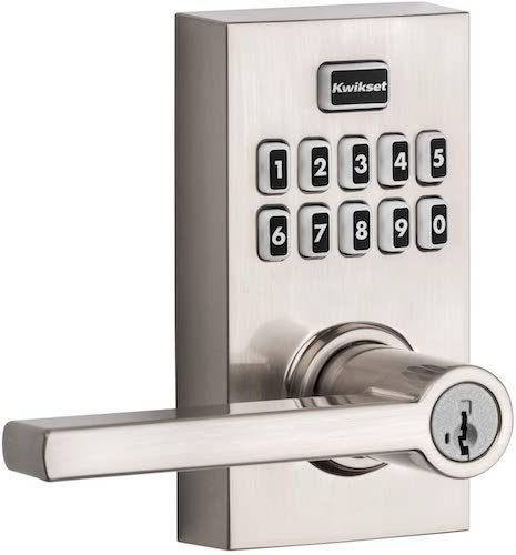 4. Kwikset 99170-003 SmartCode 917 Keypad Keyless Entry Contemporary Residential Electronic Lever Lock