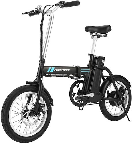 7. ANCHEER Folding Electric Commuter Bike, 16'' City Ebike