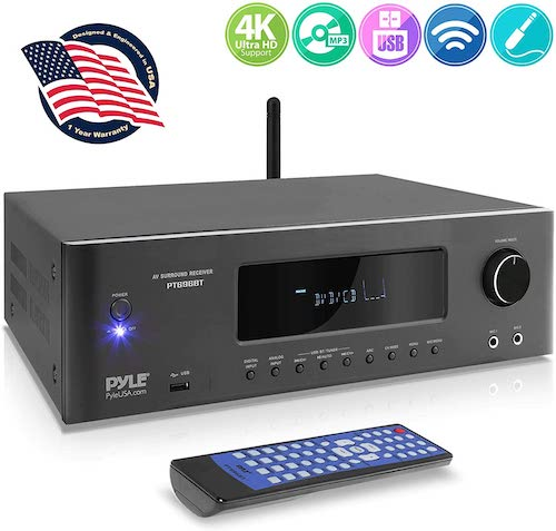 2. 1000W Bluetooth Home Theater Receiver - 5.2-Ch Surround Sound Stereo Amplifier System