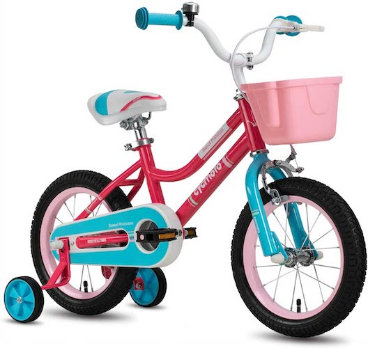 10. CYCMOTO Girls Bike for 3-6 Years Child, 14