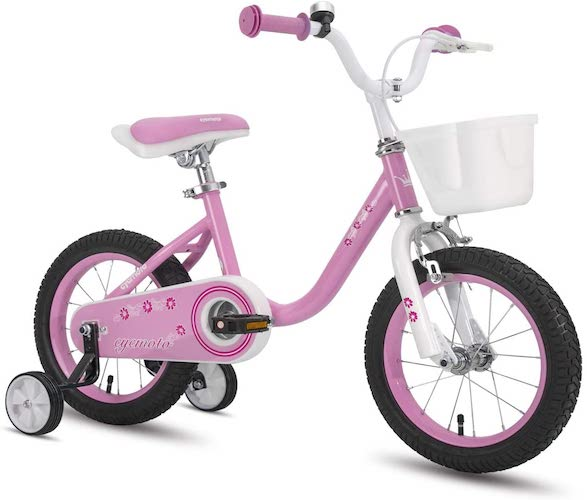 6. CYCMOTO Girls Bike for 3-6 Years Child, 14