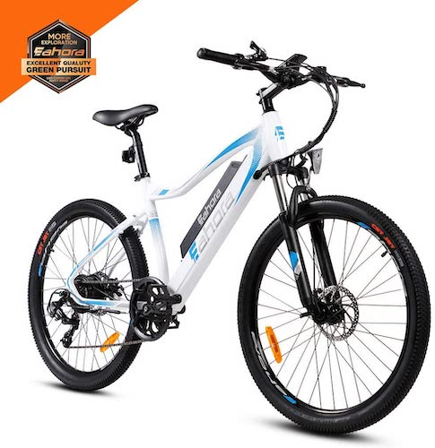 10. eAhora XC100 26 Inch 48V Mountain Electric Bikes for Adult 350W Cruise Control Urban Commuting Electric Bicycle