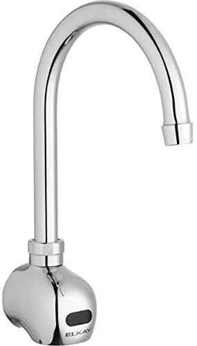 10.Elkay LKB722C Commercial Electronic Sensor Scrub/Handwash Battery Powered Wall Mount Faucet, Chrome