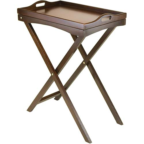 4. Winsome Wood Devon Butler TV Table with Serving Tray