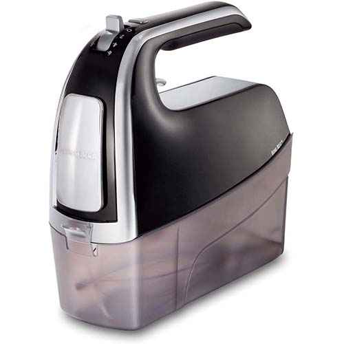 4. Hamilton Beach 6-Speed Electric Hand Mixer with Snap-On Case
