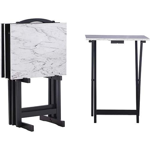 3. Linon Tray Table Set, 15.75