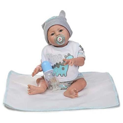1. TERABITHIA 20inch Real Life Full Body Silicone Reborn Baby Boy Dolls