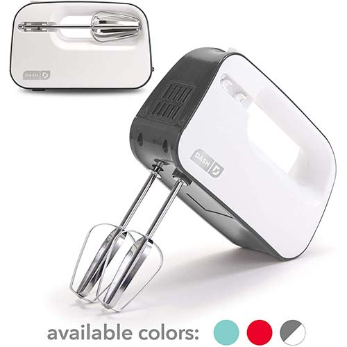 10. Dash Smart Store Compact Hand Mixer Electric for Whipping + Mixing