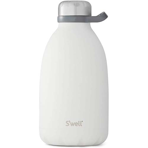 9. S'well Stainless Steel Roamer Bottle - 64 Fl Oz - Moonstone - Triple-Layered Vacuum-Insulated Containers