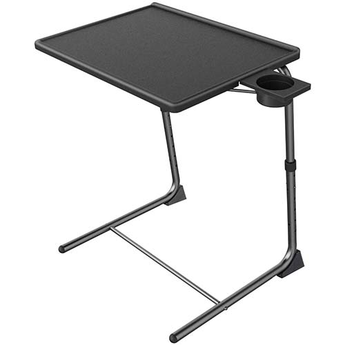 6. Adjustable TV Tray Table - TV Dinner Tray on Bed & Sofa, Comfortable Folding Table
