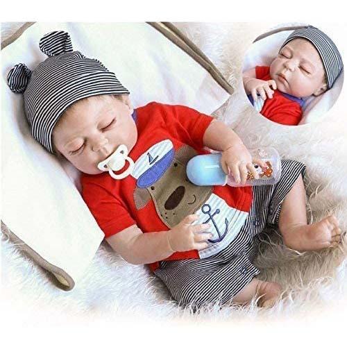 2. NPK Realistic Reborn Baby Dolls Silicone Full Body Boy 22 inchs 55 cm Anatomically Correct Washable Toy Doll
