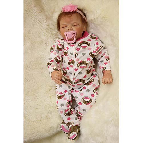 8. NPKDOLL Sleeping Realistic Reborn Baby Dolls Girl Cute Soft Vinyl Silicone Dolls Weighted Baby Reborn Dolls