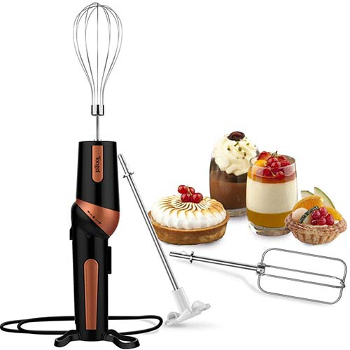 8. Electric Hand Mixer, Handheld Mixer Egg Beater Set w/AC, Stainless Steel Egg Whisk, BPA-Free Beater