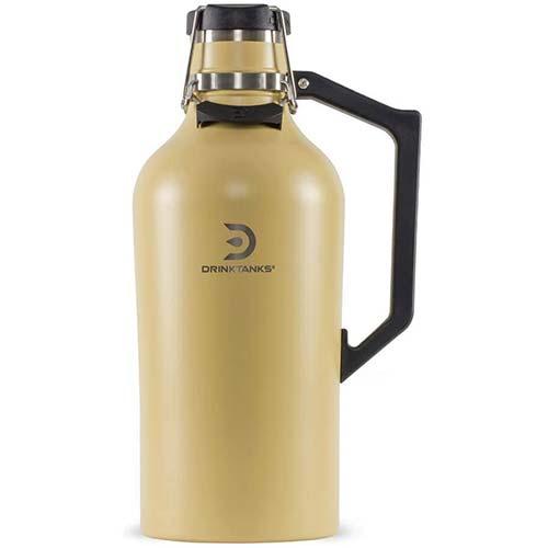 6. NEW DrinkTanks 128 oz Vacuum Insulated Stainless Steel Beer Growler