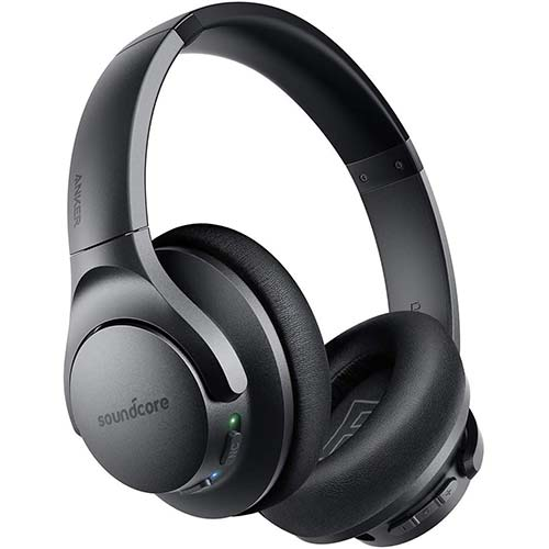2. Anker Soundcore Life Q20 Hybrid Active Noise Cancelling Headphones, Wireless Over Ear Bluetooth Headphones