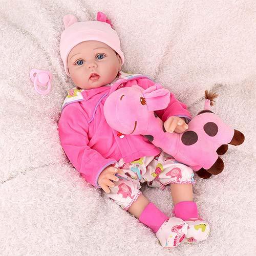 9. CHAREX Realistic Reborn Baby Dolls, Lifelike Silicone Baby Dolls, Weighted Newborn Dolls