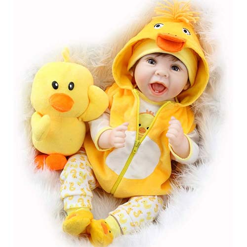7. Aori Lifelike Realistic Reborn Baby Dolls 22 Inch Weighted Reborn Girl Doll