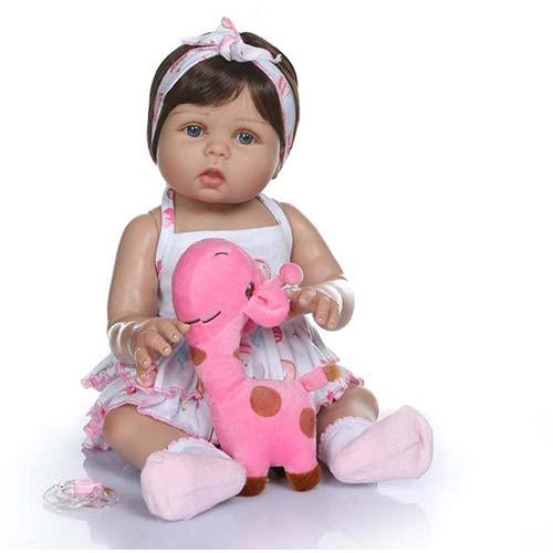 5. TERABITHIA 18inch 47cm Real Life Soft Silicone Vinyl Full Body Reborn Baby Girl Dolls