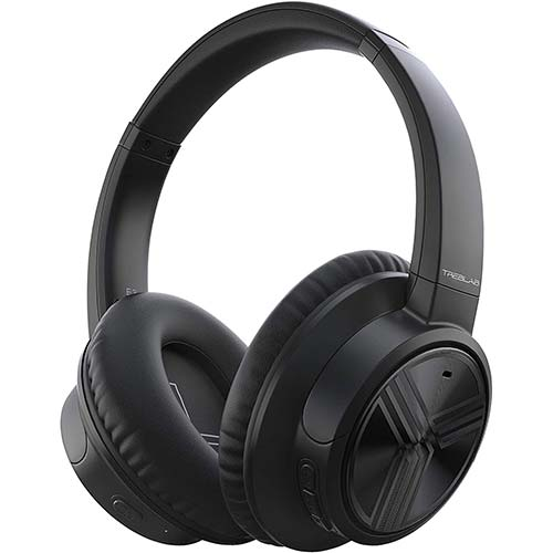 10. TREBLAB E3 - Active Noise Cancelling Headphones, Bluetooth 5.0 | 50H Battery Life w/Type-C