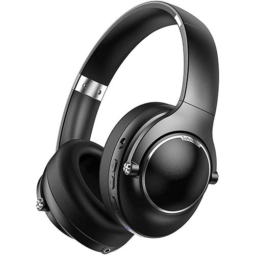 6. Activie Noise Cancelling Headphones Bluetooth, Good Bass ANC Headphone Wireless Built-in Mic Over Ear