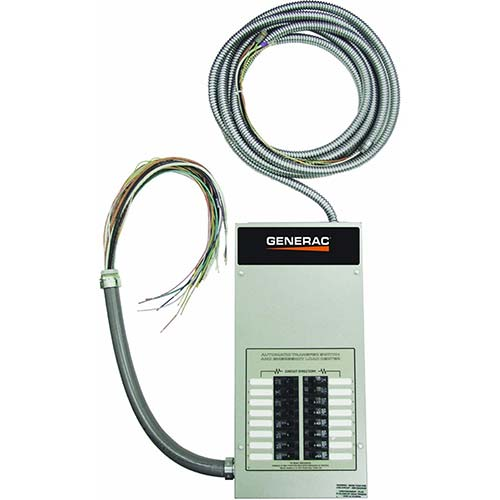 9. Generac RTG16EZA1 Automatic Transfer Switch 16-Circuit 100-Amp Load Center, Rated NEMA 1 CUL