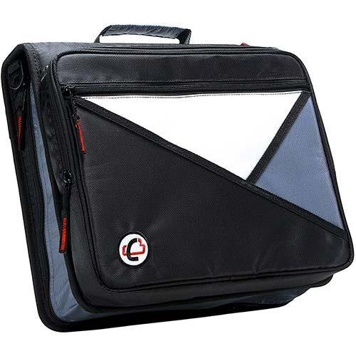 5. Case-it Universal 2-Inch 3-Ring Zipper Binder, Holds 13 Inch Laptop, Black, LT-007-BLK