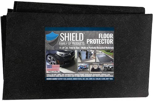 3. Shield Family Floor Protector - Premium Absorbent Oil Mat – Reusable/Durable/Waterproof – Protects Garage Floor Surface